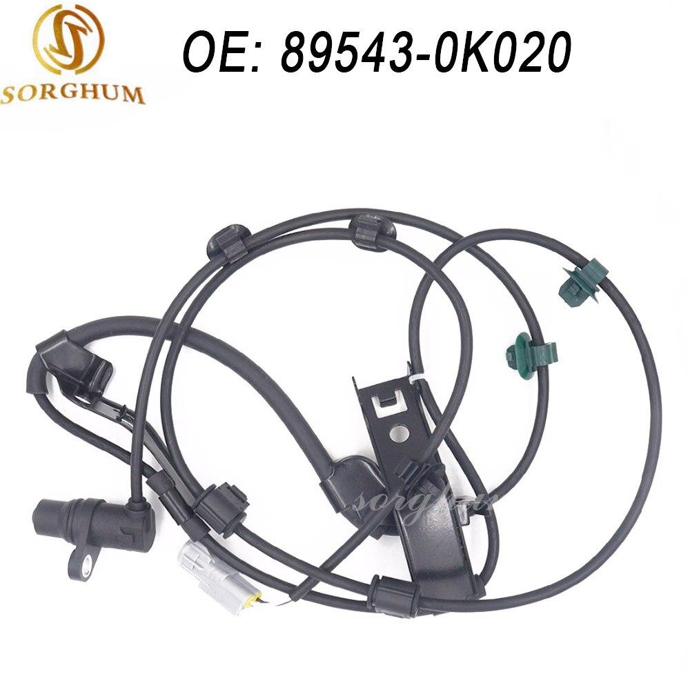 Nuevo Sensor de velocidad de rueda delantera izquierda ABS 89543-0K020 para Toyota Hilux VIGO Fortuner 2006-2012 895430K020