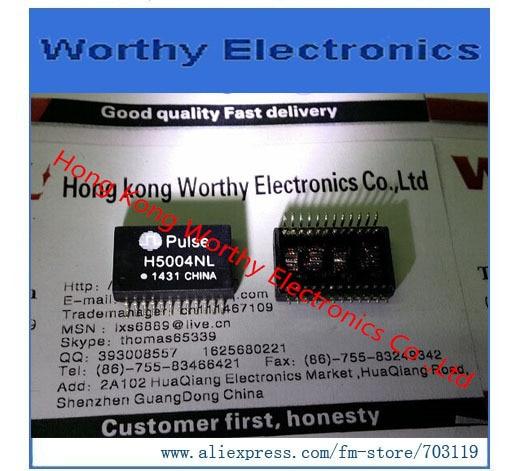 Free  shipping   10PCS/LOT    H5004NLT    H5004NL    H5004     TRANSFORMER MODULE GIGABIT 1PORT