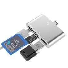 EtopLink USB-C 4-в-1 USB C концентратор с 2 слотами Type-C TF SD карта Usb 3,0 концентратор OTG кардридер USB 3,0 концентратор для MacBook Pro Type C Hub
