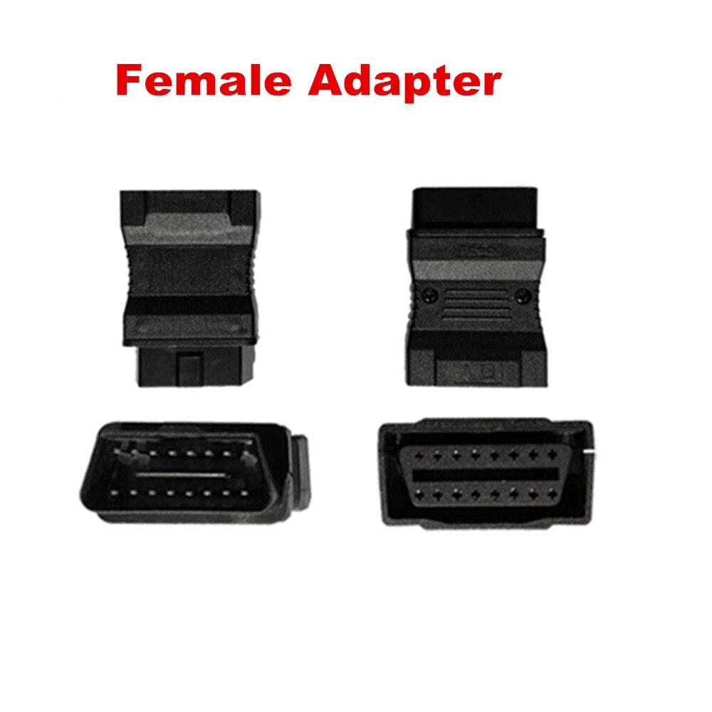 20 piezas Cable OBD2 OBD OBDII macho de DHL adaptador hembra a hembra adaptador de herramienta de diagnóstico de coche Cables convertidores conector de bajo precio