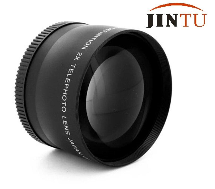 Цифровой телеобъектив JINTU 58 мм 2X высокой четкости для камеры Canon Rebel T4i T3i T3 T2i T2 T1i XT XTi XS XSi + сумка в подарок