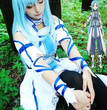 SAO épée Art en ligne Yuuki Asuna uniforme robe tenue Anime Cosplay Costumes