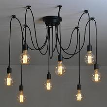 4/6/8 Heads Multiple Rod RChandelier Modern Nordicetro Hanging Pendant lights Fixtures Spider Ceiling Lamp for Home Cafe Bar
