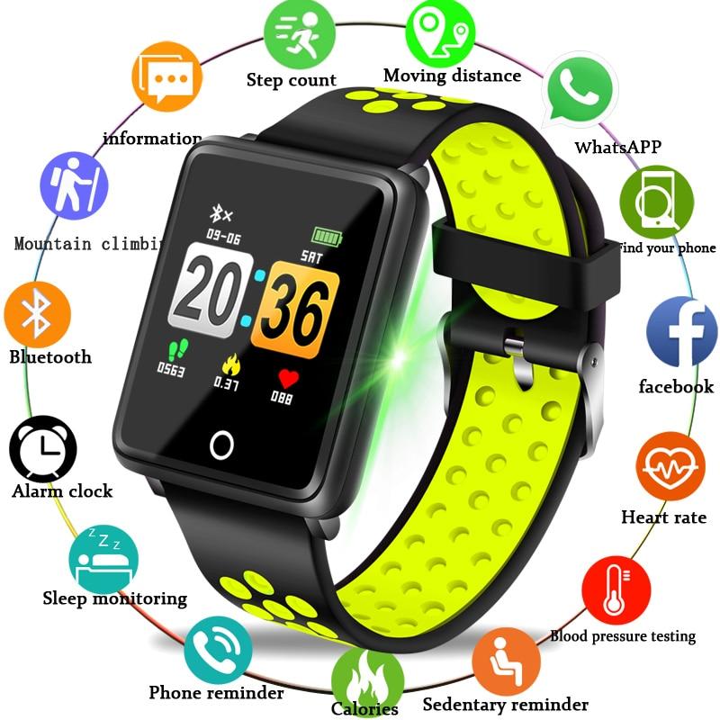 Relogio Watch 2019 New LIGE Brand Smart bracelet Men  Women Heart rate blood pressure monitoring Date watch branded Watches Men