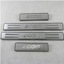 Placa de desgaste de acero inoxidable de alta calidad/Umbral de puerta para Peugeot 2014 2016-2008