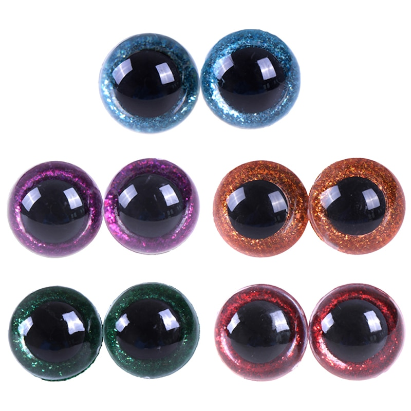 16-24 мм 10 шт разноцветные блестящие пластиковые глаза для кукол, глазки с шайбой, сделай сам для плюшевого медведя, мягкие игрушки, животных, марионетка куклы