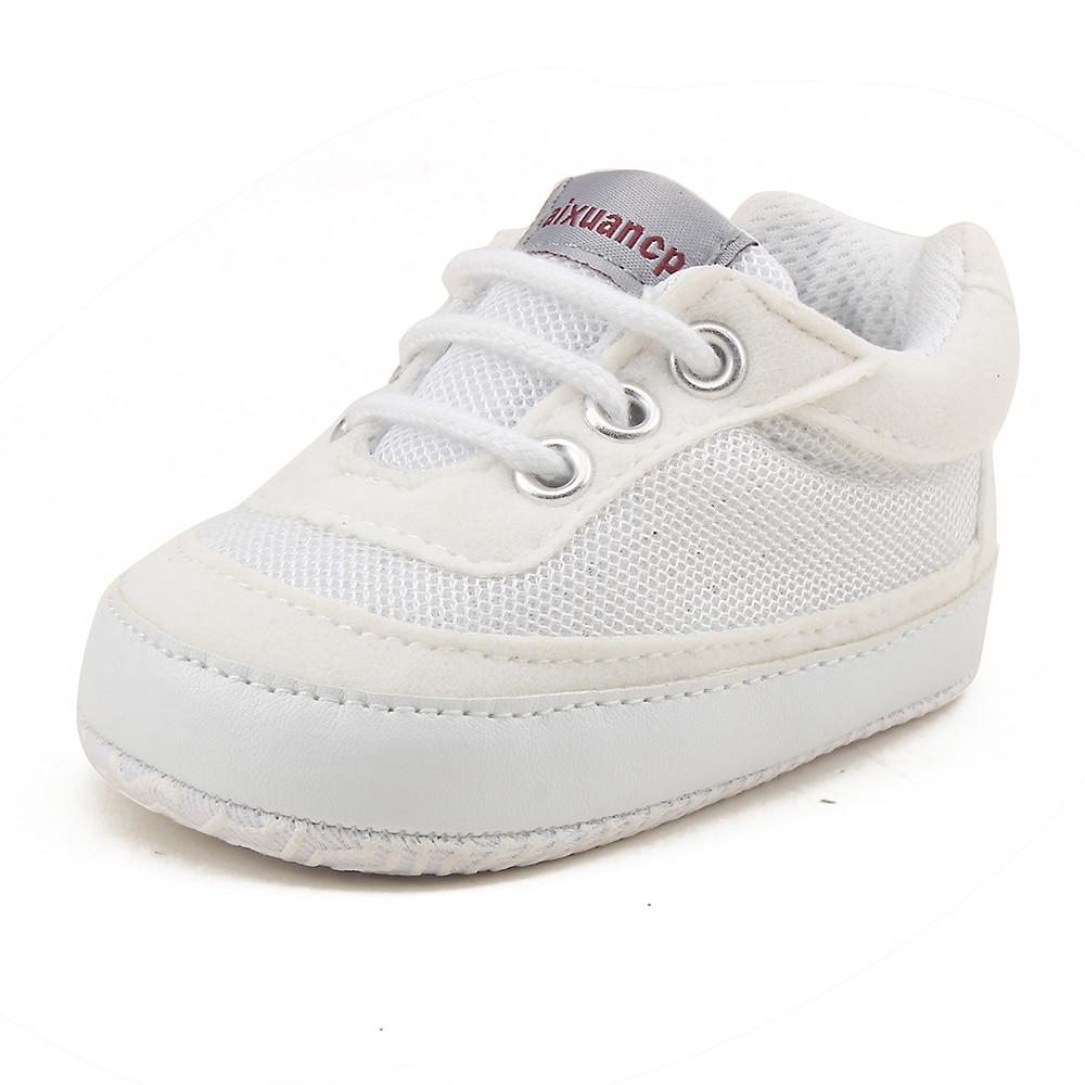 Superficial infantil bebé transpirable zapatos de malla de encaje de algodón antideslizante zapatillas de deporte para 0-18 meses chico chica en primer lugar los caminantes