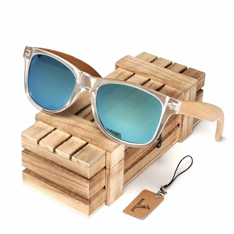 Bobo pássaro óculos de sol feminino polarizado cor clara moldura óculos moda luxo óculos lunette de soleil femme cg008
