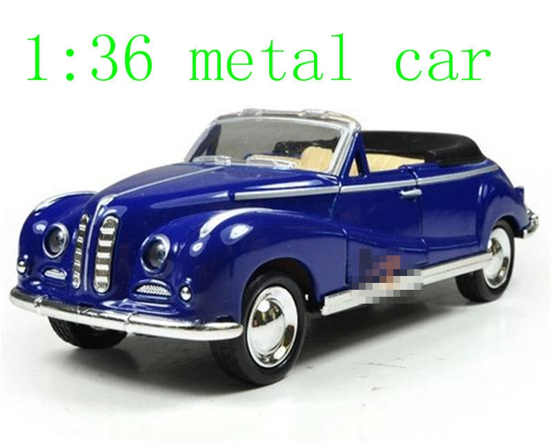 The new alloy car models classic children's toy car pull back Antique Cars classic car static