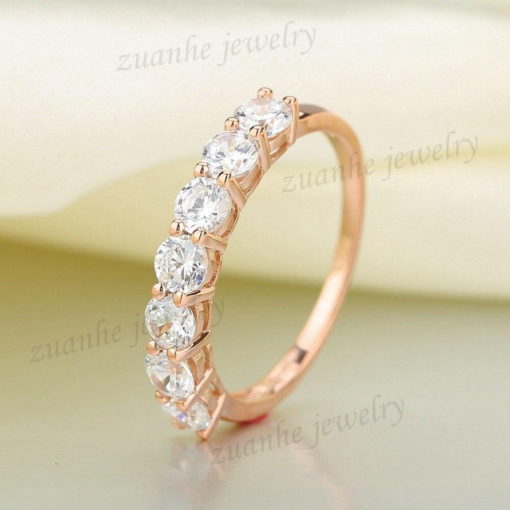 BAIHE, anillo de plata de ley 3,4 de Zirconia cúbica brillante de corte redondo de 925 MM para mujer, anillo de compromiso, regalo de boda, anillo de Zirconia cúbica para mujer