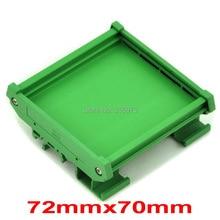 ( 50 pcs/lot ) DIN Rail Mounting Carrier, for 72mm x 70mm PCB, Housing, Bracket.