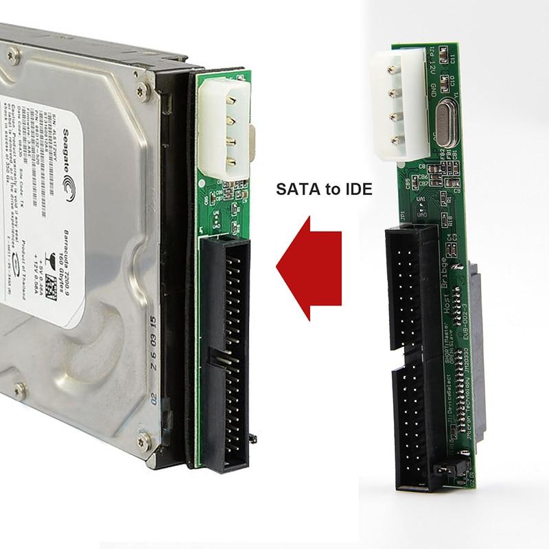 7 + 15 pin 2,5 Sata Female to 3,5 inch IDE Sata to конвертер адаптеров IDE Male 40 pin port для ATA 133 100 HDD CD DVD Serial new