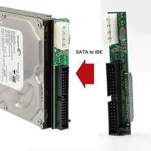 7 + 15Pin 2.5 Sata 여성 3.5 인치 IDE Sata IDE 어댑터 변환기 남성 40 핀 포트 ATA 133 100 HDD CD DVD 직렬 새