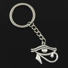 Nouvelle mode hommes 30mm porte-clés bricolage support métallique chaîne Vintage ancienne egypte oeil dhorus 33x27mm argent couleur pendentif cadeau