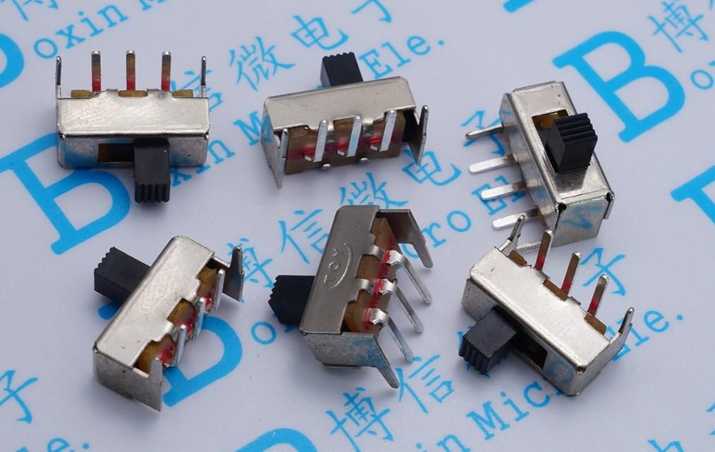 30 piezas/SS12F23 interruptor de palanca Horizontal SS-12F23 5 Pin mango 4 MM interruptor de deslizamiento