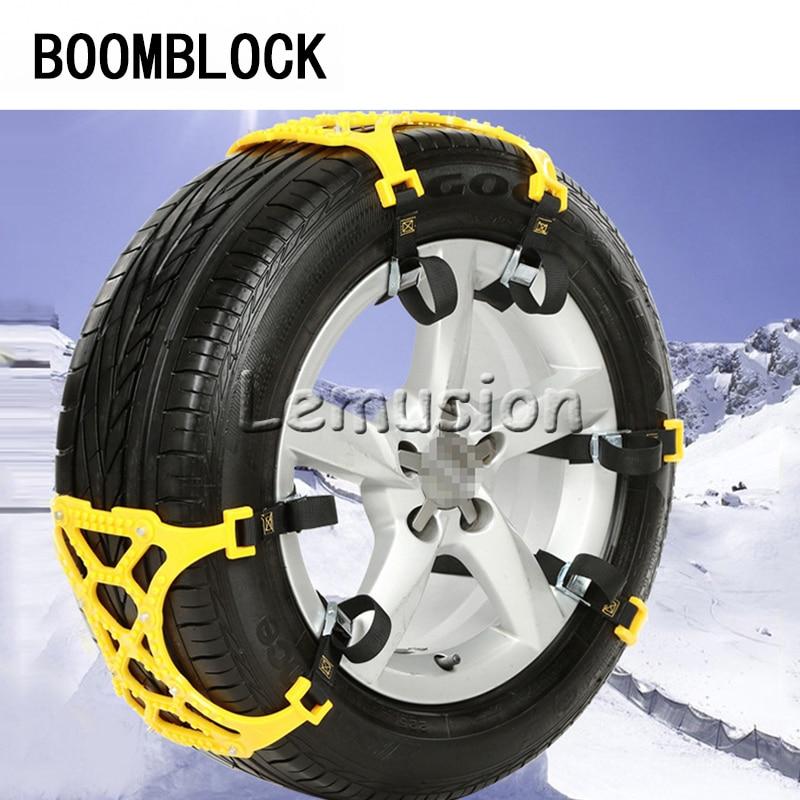 Esteira antiderrapante plástica do pneu das correntes da neve para opel astra h j g insignia citroen c4 xsara grand c5 c3 ford focus 2 3 2017 acessórios