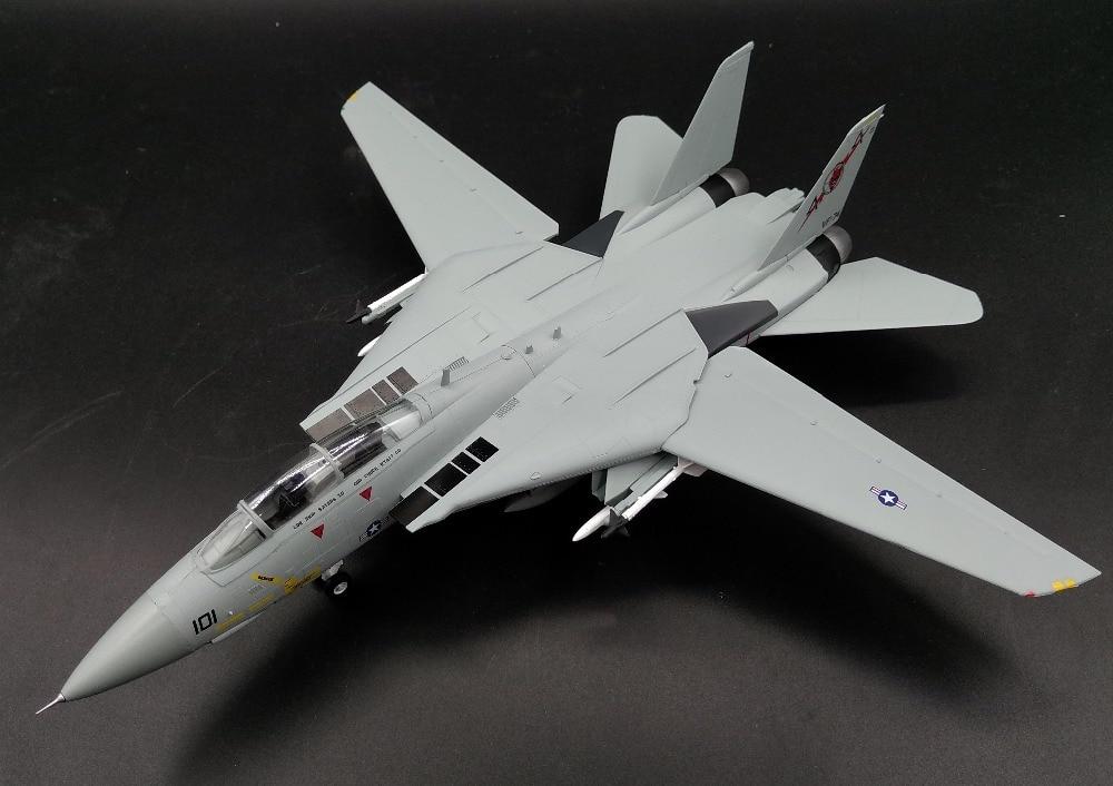 Trompete 1 72 US Navy F-14B männliche katze kämpfer VF74 teufel squadron 37187 fertig produkt modell