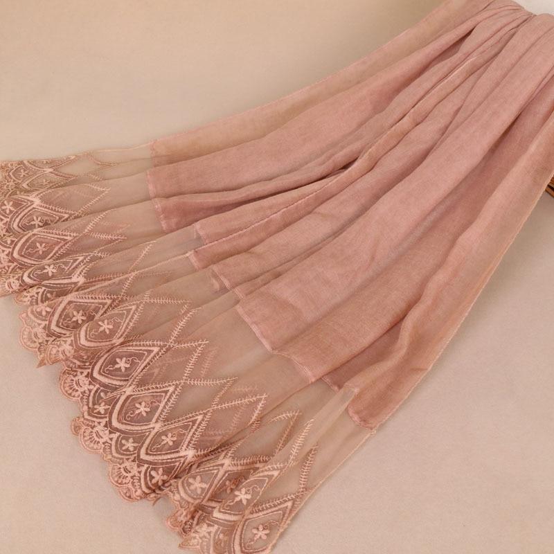 Nuevo patrón anudado Popular Split Joint chal de mujer de encaje de algodón Urban Grace pañuelo de seda para la cabeza Chiffon Hijab Foulard