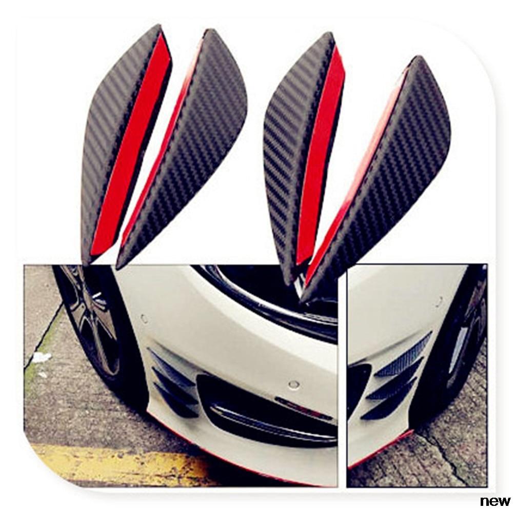 Alerones de fibra de 4 Uds para el parachoques delantero de Volkswagen VW POLO Golf 4 Golf 6 Golf 7 CC Tiguan Passat B5