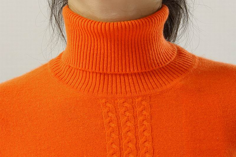 100%Cashmere Sweater TurtleNeck Orange Brown Black Pullover Women Natural Fabric Warm High Quality Clearance Free Shipping enlarge