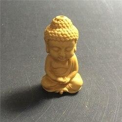 Натуральный Самшит резные фигурки детский Кулон Будда игрушка ручной резной аксессуары и Автомобильный ключ кулон Мини Будда рисунок искусство