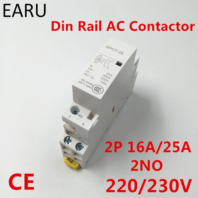 Contactor de corriente alterna para el hogar, GPCT1 2P 16A 25A 220V/230V...