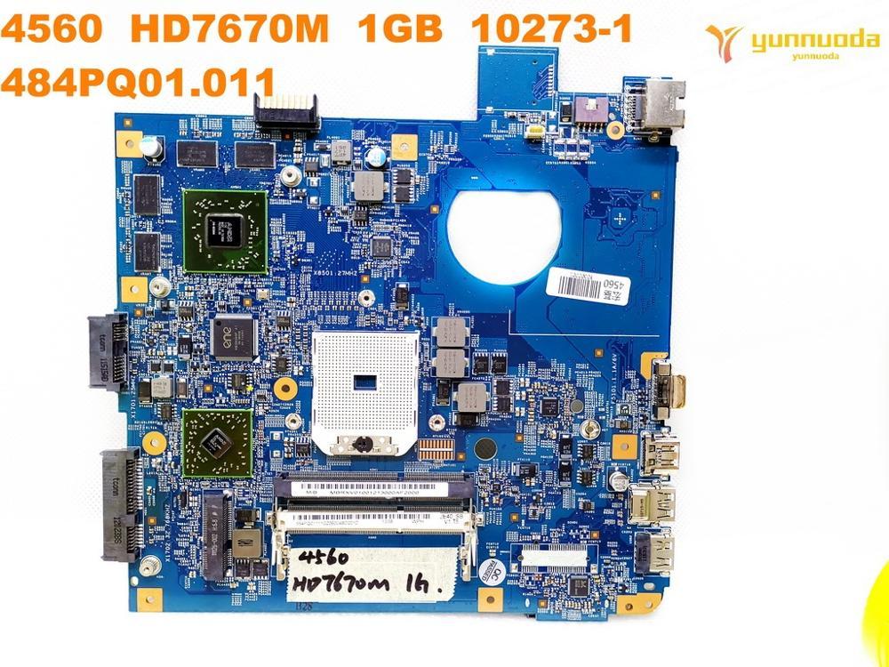 Placa base Original para portátil ACER 4560 HD7670M, 1GB, 4560-1, 484PQ01.011, probado,...