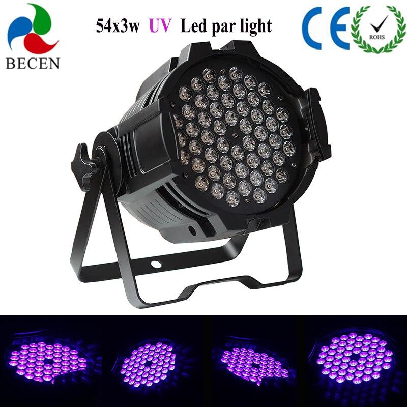LED Par Light 54X3W UV par can light  dj party led lamp DJ Party Stage Lighting