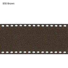 Rubans gros-grain bruns blancs   Cousus, couleur unie, 7/8 pouces de 22mm