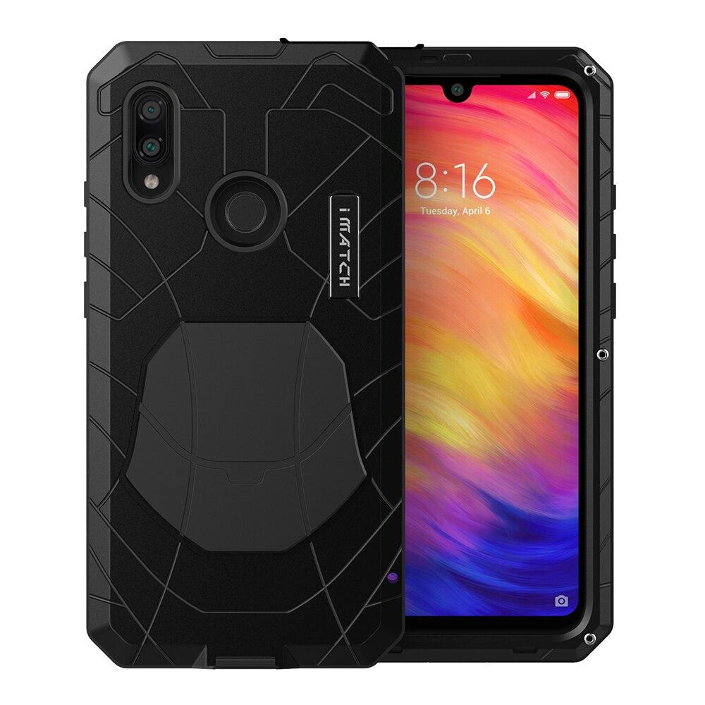 For Xiaomi Mi Redmi K20 Phone Case Hard Aluminum Metal Tempered Glass Screen Protector Heavy Duty Cover  For Redmi Note 7 8 Pro