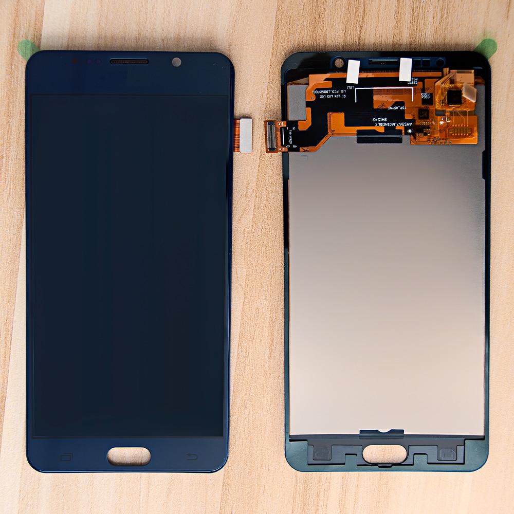 "AMOLED 5,7 ""Pantalla para SAMSUNG GALAXY Nota 5 LCD montaje de pantalla táctil digitalizar Nota 5 N9200 N920F N920T N920A N920V N920C"