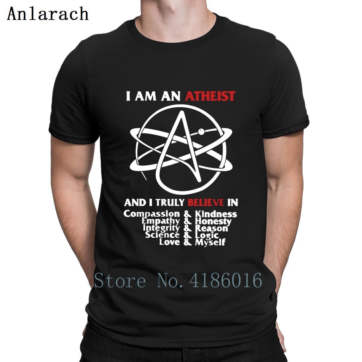 Soy un ateo T Shirt Vintage impresión edificio manga corta verano O cuello lindo camisas de caballeros