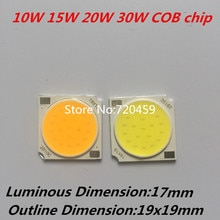 10pcs High Power COB LED chip diamete luminous dimension 17mm Taiwan chip High Bright Ceiling light source White ,Warm White