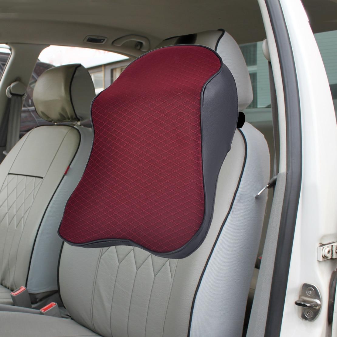 Beler nuevo 1 unidad Auto asiento reposacabezas blando almohadilla de espuma de memoria almohada cabeza descanso del cuello cojín de apoyo viaje para VW Audi BMW Mazda