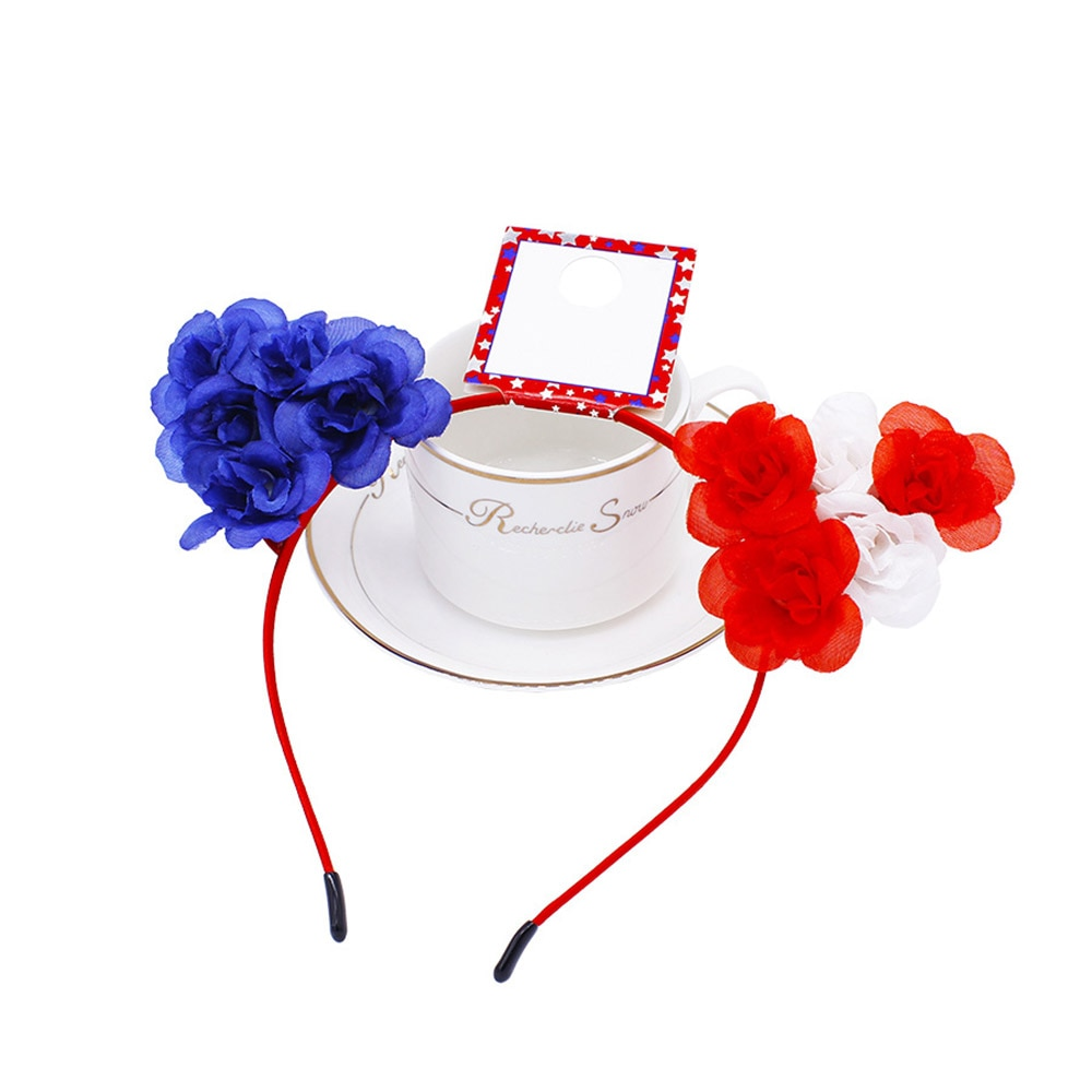 Fiesta de Halloween decorativo diadema impreso diadema de bandera estadounidense 4th DE JULIO DE para adultos niños de flores sombrero de partido