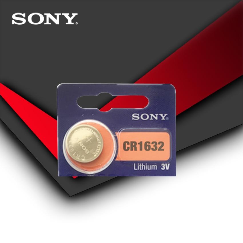 1 pila de botón Sony Original 100% CR1632 para ver la llave remota del coche cr 1632 ECR1632 GPCR1632 3v batería de litio