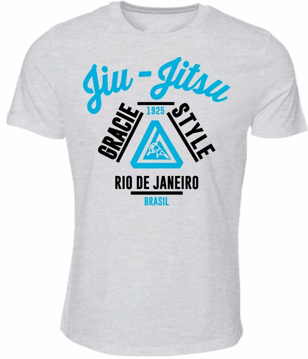 Novo 2019 popular famoso camisa masculina gracie brasileiro jiu jitsu manga curta algodão moda t camisa moletom
