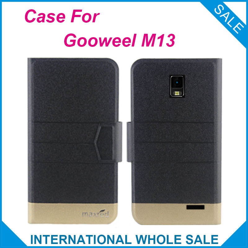 5 Colors Super! Gooweel M13 Case Fashion Business Magnetic clasp, High quality Leather Exclusive Case For Gooweel M13