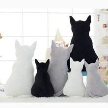 Silhouette chat en peluche animaux poupée jouets 45/70 cm doux en peluche oreiller nouveau-né coussin poupée literie pour adultes enfants jouets
