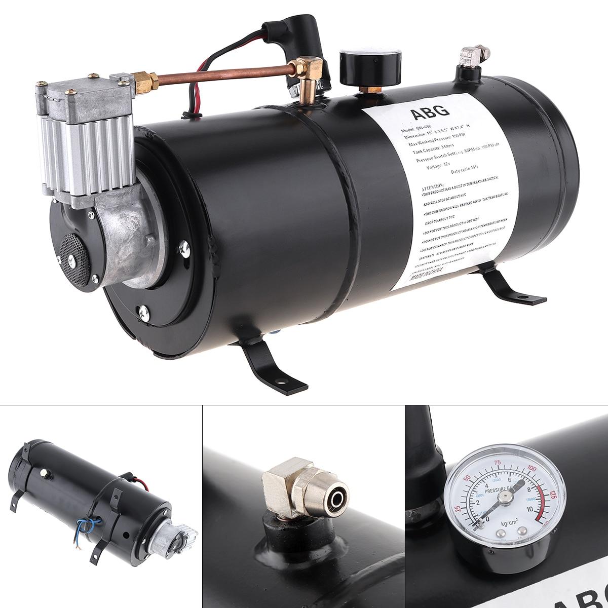 Uniwersalny 12V 125 PSI trąbka pneumatyczna zbiornik kompresora pompy multi-tone & Claxon rogi dla pociągu Auto samochód ciężarówka łódź motocykl