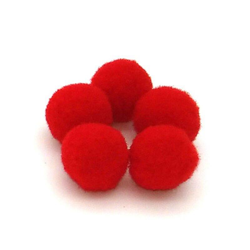 100 stks Pluizige Slime/Pluche doek Craft DIY Zachte pon poms bal furball Home/Mobiele Telefoon Decor Naaien levert Craf Kleurrijke Speelgoed