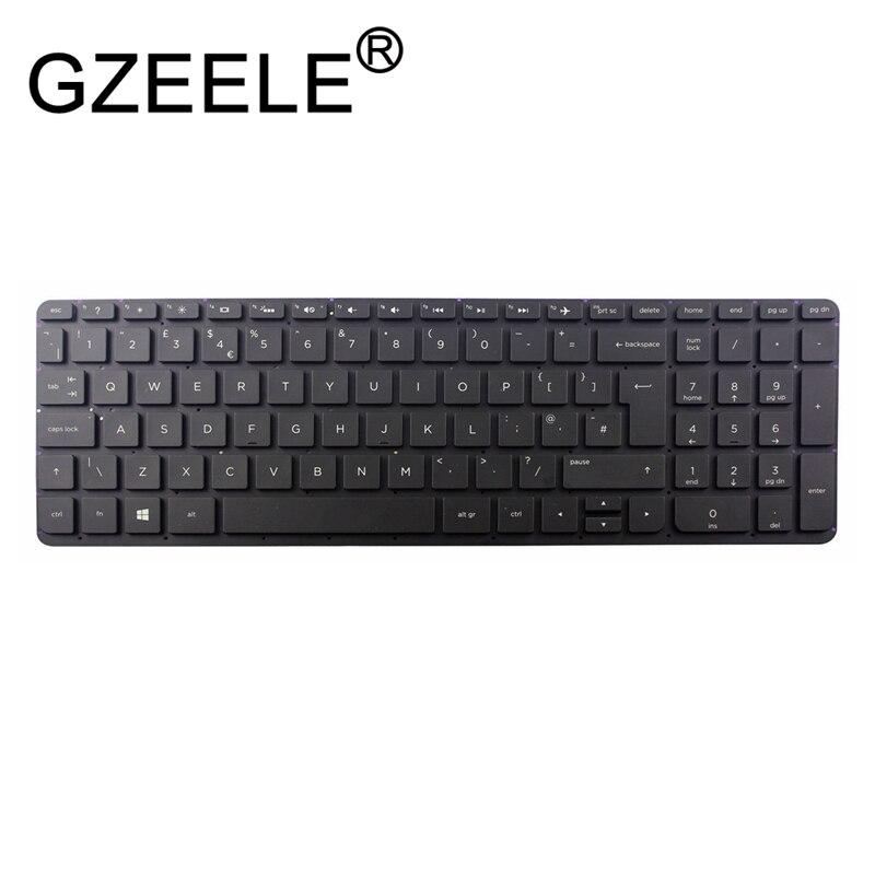 GZEELE Nuevo Reino Unido teclado para HP pabellón 17-F 15-N QWERTY 9Z.N9HSQ.72M 749658-03 QWERTY