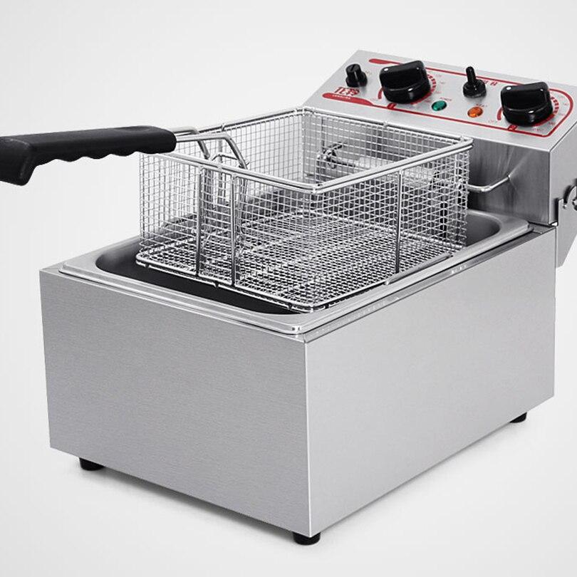 Коммерческий Счетчик Топ электрическая фритюрница со сливной клапан для масла