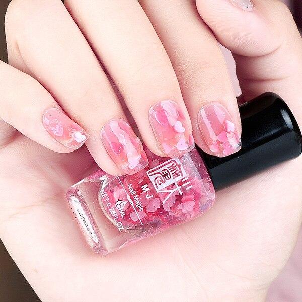 Гель-лак для ногтей Vernis A Ongle, новый модный профессиональный Гель-лак для ногтей с блестящим цветком и сердечком, 3d лак для ногтей Nagellak