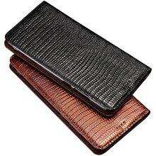 Telefon Fall Für Meizu Pro 5 6 6S 7 Pro5 Pro6 Pro7 Plus Lizard Grain Flip Fall Magnetische Stand genuien Leder Telefon Abdeckung