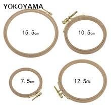 YOKOYAMA 7.5-15.5cm drewniana maszyna do ściegu krzyżykowego tamborek tamborek tamborek okrągły Needlecraft przyrządy do szycia 4 rozmiar