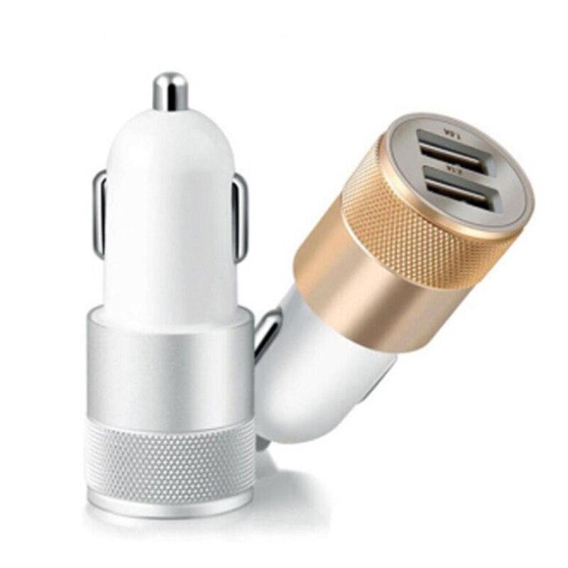 Eafc dupla usb carregador de carro de carregamento de metal plana do telefone móvel universal de carregamento 2.1v pequeno canhão de aço carregador de carro