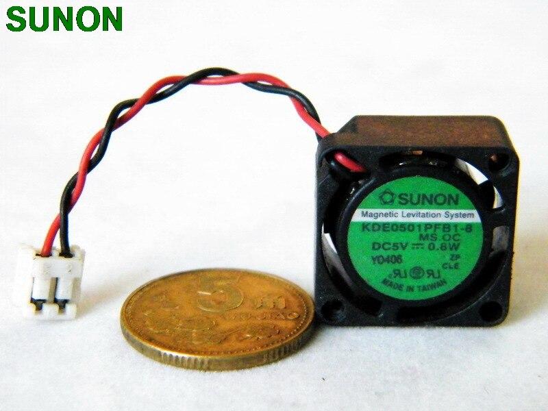 Para sunon KDE0501PFB1-8 kde0501pfb1 2010 5 v 0.8 w 2 cm maglev ventilador de refrigeração do motor