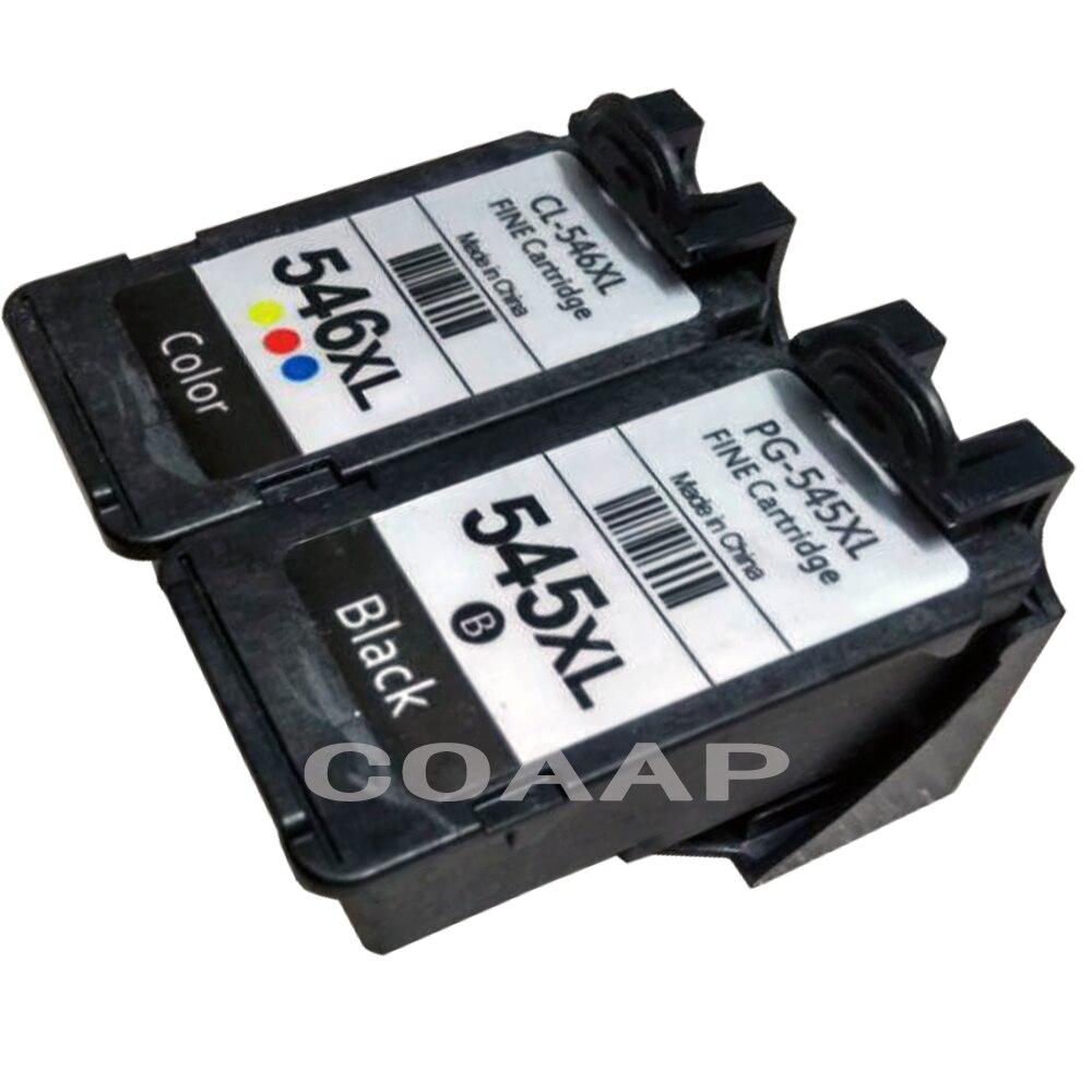 Cartucho de tinta de repuesto para impresora canon 545 546 Pixma MG2550 MG2580 MG2950 MG2400 MG2450, 2pk PG 545XL CL 546XL