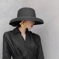 maxsiti u summer hepburn style vintage design straw hat women girls solid color beach holiday big sun cap